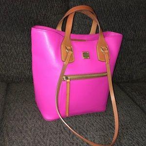 Handbags - Dooney and Bourke Tara Shopper Fuchsia